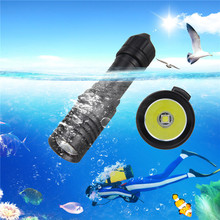 5000LM XM L2 LED Scuba Diving Flashlight Torch 18650 Light Underwater 100m Fishing Flashlight  Strip Use 18650 / 26650 Batterys