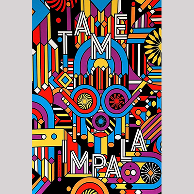 Details about  /Art Silk Poster New Tame Impala Psychedelic Rock Currents Album Cover Z-681
