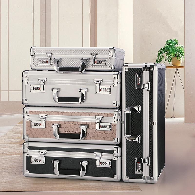 Portable Password Safe Home Anti-Theft Dormitory Small Mini Family Storage Box Portable Portable Micro Cabinet(Medium)