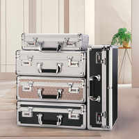 Portable Password Safe Home Anti-Theft Dormitory Small Mini Family Storage Box Portable Portable Micro Cabinet(Large)