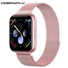 Cobrafly P6スマート腕時計女性男性pk P68 P70 1.4インチのフルタッチスクリーンIP67防水心拍数モニターフィットネストラッカー腕時計