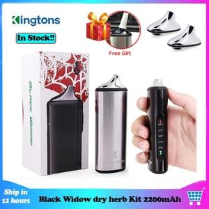 Image 1 - Original Kingtons Dry Herb Vaporizer Vape Kit Herbal 2200mAh Black Widow Box Mod Wax Vape Kit Ceramic heating vs Pathfinde V2