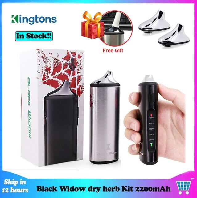 Original Kingtons Dry Herb Vaporizer Vape Kit Herbal 2200mAh Black Widow Box Mod Wax Vape Kit Ceramic heating vs Pathfinde V2