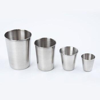 1 Uds taza de acero inoxidable 30/70/180/320ml batido de cerveza para bar cafetería tazas portátiles
