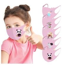 5/1 шт. детская дышащая маска для мальчиков и девочек моющаяся маска для рта многоразовая маска для лица защитные шапочки для рта Тканевые ма...