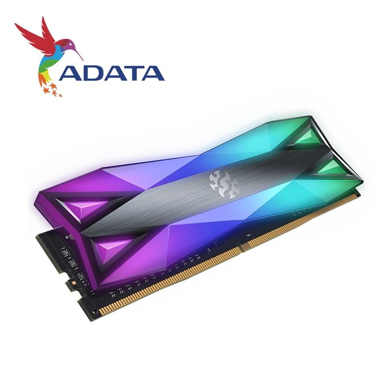 Módulo 8gb16gb 2x8gb ddr4 pc4 3200 mhz 3000 mhz 2666 mhz dimm 2666 3000 3600 mhz adata xpg d60 memória do desktop do pc do rgb ram memoria