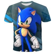 2021 Cartoon Boys Sonic SuperMario Print Clothes Girls 3D Funny T-shirts Costume Children summer Clothing Kids Tees Baby Tshirts