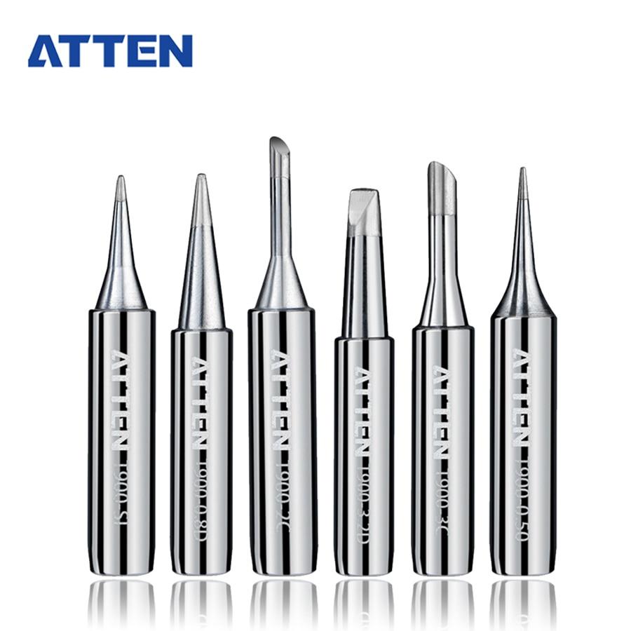 6Pcs ATTEN 900-T Soldering Iron Tips Welding Tools Solder Tips for BGA Soldering Station 1