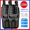 2pcs Baofeng UV X10 רדיו 10W Powful ווקי טוקי 2 PTT Dual Band VHF UHF 128 ערוצים CB שתי דרך רדיו עדכון UV 5R UV 82