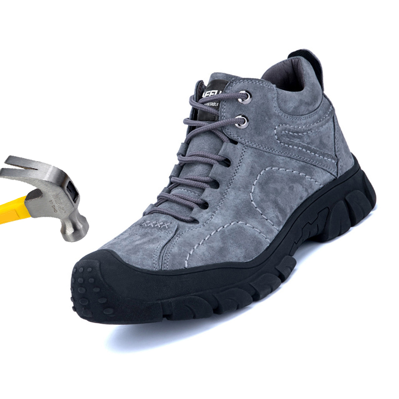 Steel Toe Shoes Safety shoes Industrial Construction Safety shoes Safety Construction Steel Toe Waterproof Work Boot Keep warm image