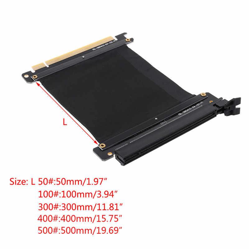 5/10/30/40/50 Cm Cao Tốc Độ Máy Tính Loại Card Đồ Họa PCI Express 3.0 16X Linh Hoạt cáp Thẻ Mạch Mở Rộng Cho Máy GPU C26