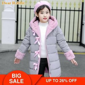 Image 1 - 2020 novas meninas moda inverno imitação casaco de pele casacos quente parka crianças roupas de bebê crianças engrossar mais veludo roupas 30