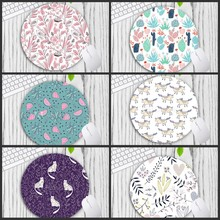 Tablet-Mats Animal-Mouse-Pad Game/office Tropical-Plants 200x200mm XGZ with Cat-Pattern