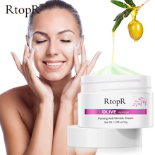 Olive Peptide Firming Anti-Wrinkle Cream Reduce Face Fine Lines Tighten Pores Whitening Oil Control Acne hydrating skin Product