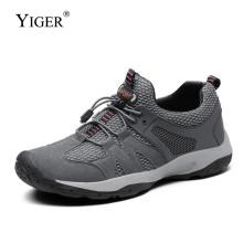 YIGER New Sports casual shoes man Handmade hiking big size genuine Leather  lace-up male leisure outdoor 0347