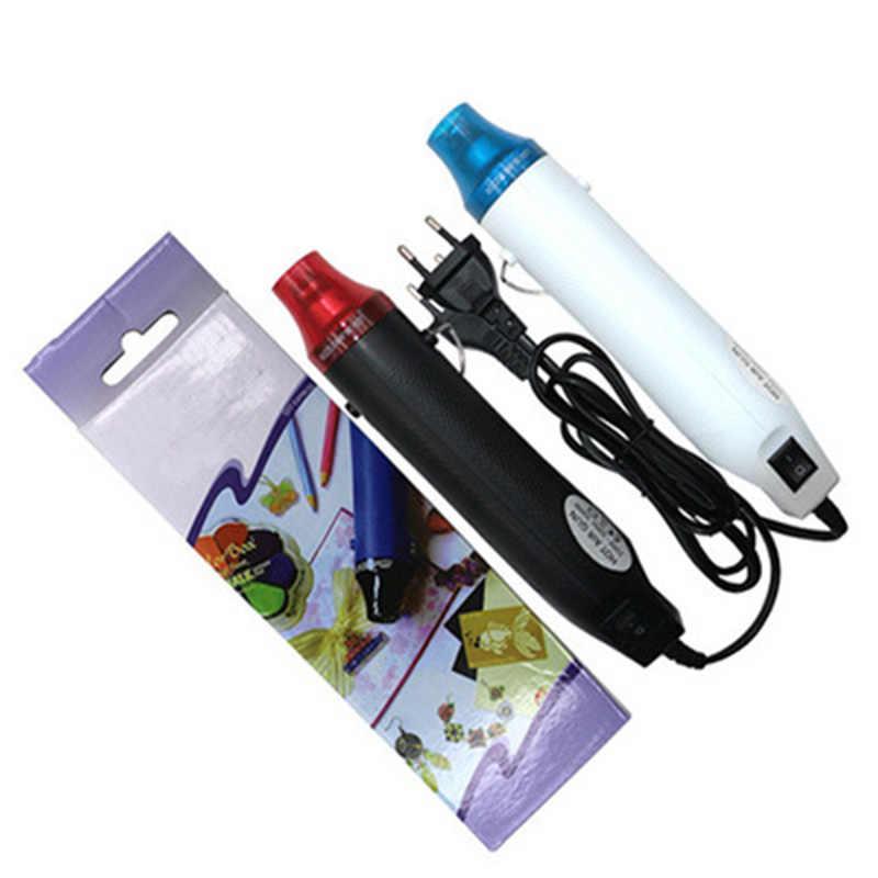 1 قطعة 110 فولت/220 فولت الكهربائية لينة السيراميك الساخن مسدس هواء/الحرارة بندقية مع دعم مقعد DIY بها بنفسك أداة الحرارة بندقية