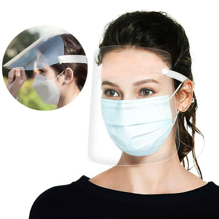 Transparent Adjustable Full Face Shield Flip Up Visor Eye Protection Mask Safety Work Guard Plastic Anti-fog Protective Mask