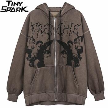 Men Hip Hop Streetwear Hooded