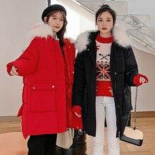 Winter women long jackets coat 2019 New thick warm loose style jackets big fur collar hooded sintepon coats plus size M-3XL цена в Москве и Питере