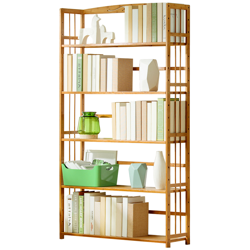 Simple Bookshelf Floor-to-ceiling Living Room Solid Wood Children's Table To Receive Students Small Book Cabinet Simple