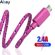 Xiaomi Tablet Phone-Cables Usb-Charger Data-Sync Android Usb Huawei Micro Samsung Nylon