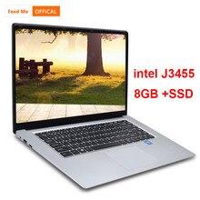 15.6 inch 8GB RAM 256GB/512GB SSD Notebook intel J3455 Quad Core Laptops With FHD Display Ultrabook