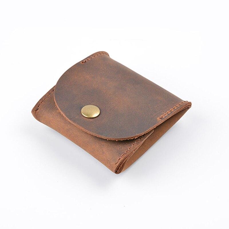 Genuine Leather Vintage Wallet Clutch Mini Coin Purse Short Casual Soild Creative New Desiger High Quality Key Bag Men Wallets