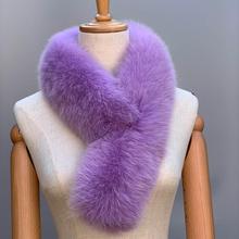 Lenço de pele da senhora do lenço da raposa do inverno, lenço do lenço do colar