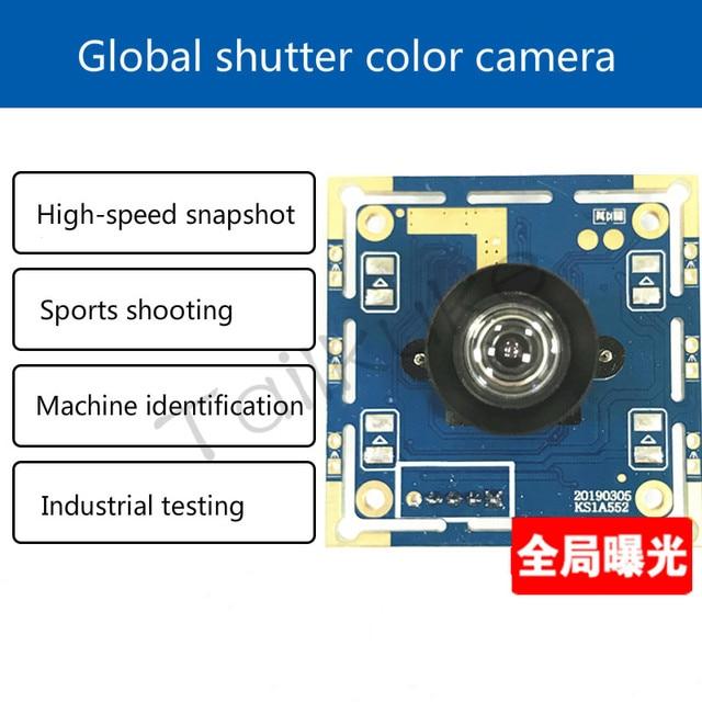 USB exposición Global obturador Global módulo Cámara Color captura de alta velocidad Reconocimiento Industrial escaneo