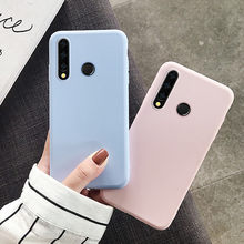 Fashion Candy Color Case for Huawei Y5 Y7 Y9 2019 Case Y6 Prime 2018 Nova 3 3i 3E 4 4E 5 5i Pro P20 P30 Lite Soft Silicone Cover(China)