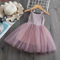 Fleur filles robe de princesse enfants bébé fête de mariage Pageant robes de dentelle vêtements Enfant enfants fille d'été robe décontracté