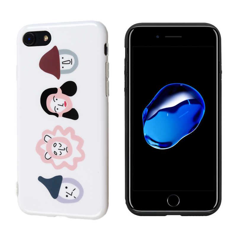 Cao Cấp Bóng IMD Silicone Mềm Dành Cho iPhone 11 Pro X XS Max XR 6 6S 7 8 Plus bao Da Màu Đỏ Dễ Thương Mũ Bé Gái Hoạt Hình Ins Coque