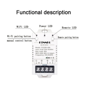 Image 2 - Mivolvo 40A on off switch Smart APP wireless remote control AC85V 250V electrical control switch