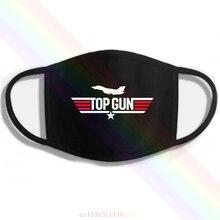 Gun Том Круз F-16 печать, стирающаяся дышащая многоразовая хлопковая маска для губ