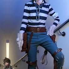 Identidade feminina v trajes cosplay prisioneiro luca balsa cosplay traje sobrevivente uniformes da pele original ternos conjuntos de roupas adulto