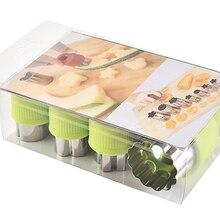 Wowshine устройство резки овощей и фруктов формы 10 шт./компл. мультфильм резная форма Нержавеющая сталь торта печенье автомат для резки печенья Форма инструменты
