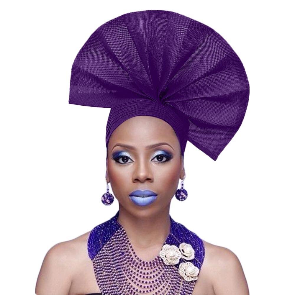 Fan Aso Oke Headwrap African Aso Oke Headtie Fan Auto Gele Aso Ebi Nigerian Headwear Fashion Headgear