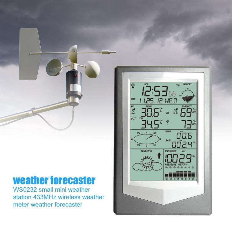 433MHz sans fil numérique extérieur prévision capteur hygromètre thermomètre horloge haute faible relativement humidité alarme paramètres