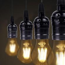 10 piezas Vintage lámpara de techo soporte de aluminio Retro lámpara soporte E27 tornillo bombilla titular para candelabros lámpara de pared 110-250V