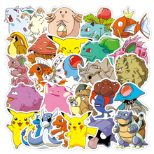10% 2F30% 2F50pcs Pokemons Kawaii Cartoon Anime Waterproof Stickers For багажник Skateboard Laptop DIY Waterproof Kids наклейки игрушки подарок