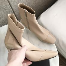Plus Size 34-43 Genuine Leather Spring Socks Boots 2020 New Arrival Ankle Boots Riding Shoes Women's Fashion High Heels Booties цены онлайн