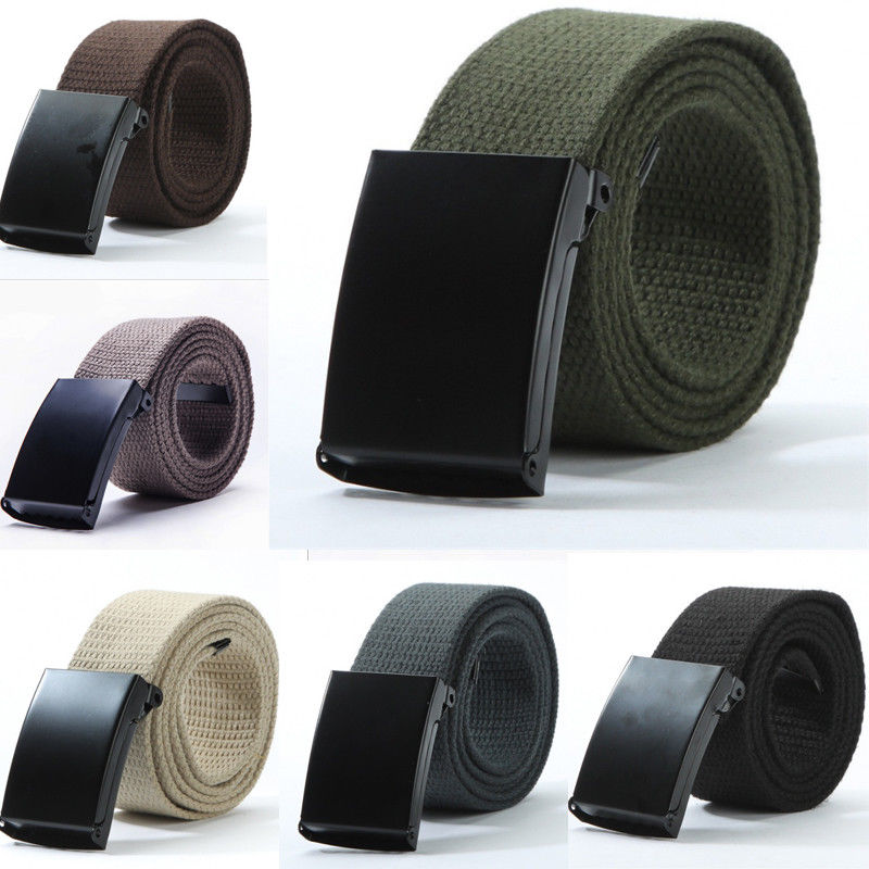 Solid Nylon Metal Belts Men Automatic Buckle Army Military Tactical Combat Canvas Belt Male Strap Waistband For Pants