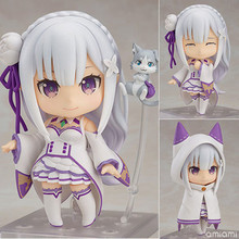 Anime Re:Life In A Different World From Zero Emilia Figure Nendoroid 751 Q Version PVC Action Collection Model Toys