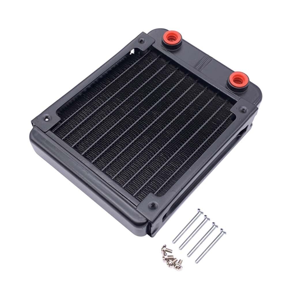80/120mm G1/4 Interface Computer Water Cooling Heatsink CPU Aluminum Heat Dissipation Radiator