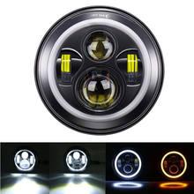 1PC H4 Car Running Lights 60W 7inch LED Headlight Car Accessories for Lada Niva 4X4 Suzuki Samurai(China)