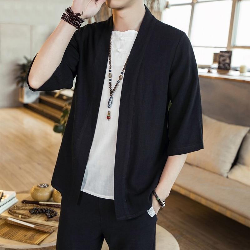 Кимоно Кардиган для мужчин японский obi мужской yukata Мужская haori японская одежда самураев Традиционная японская одежда FF001|Одежда Азии и островов Тихого океана|   | АлиЭкспресс