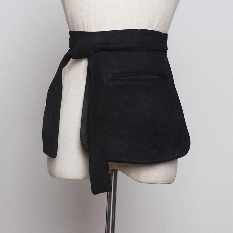 [EAM]  Bandage Mini-bag Velvet Long Belt Accessories Personality Women New Fashion Tide All-match Spring Autumn 2020 1B372