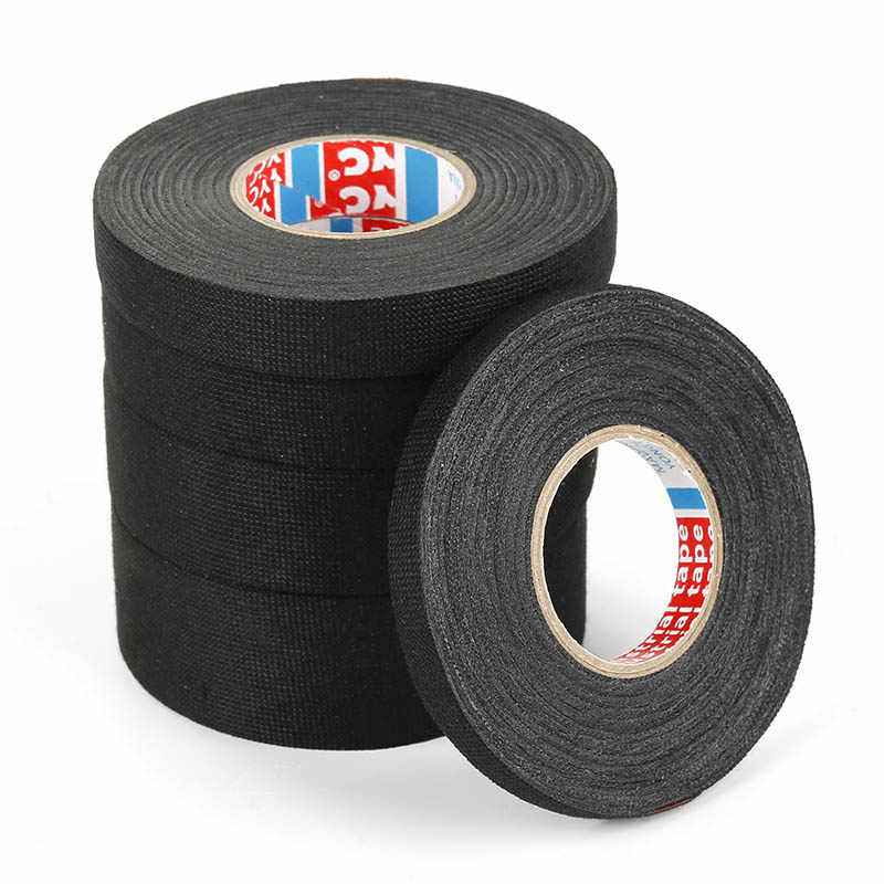 15m Black Non woven Car Special Tape Adhesive Cloth Tape for Cable Harness  Wiring Loom Automotive Car Cable Looms Harness Wiring| | - AliExpresswww.aliexpress.com