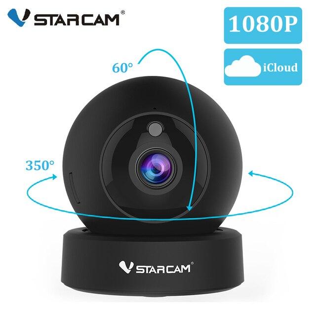 Vstarcam 1080p 2mp dome mini câmera ip g43s sem fio wi fi câmera de segurança ptz cam ir noite câmera de vigilância em casa monitor do bebê