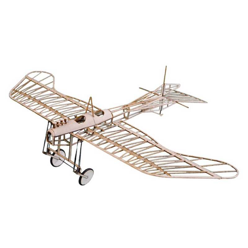 Etrich Taube 420mm Wingspan Monoplane Balsa Wood Laser Cut RC Airplane Kit With Power System Model Plane Toys image